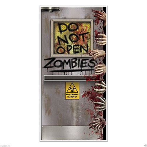 [HALLOWEEN Walking Dead Party ZOMBIE LAB Do Not Open DOOR COVER Decoration Prop] (Halloween Costumes For 12 Month Old Girl)