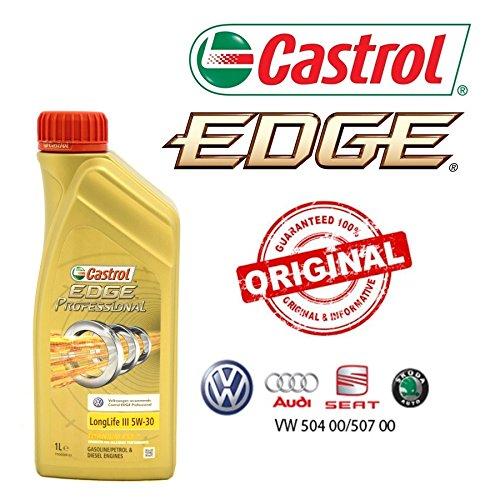 Castrol EDGE Professional LongLife III 5W30 - Olio per Auto, Lubrificante 5W-30 6 Litri