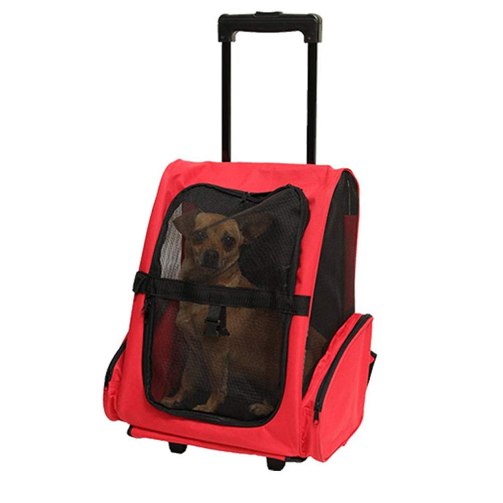 A L43W30H50cm A L43W30H50cm Pet Carrier Trolley,Deluxe Backpack Pet Ventilated Design for Small Cats and Dogs Cycling & Outdoor Use Backpack Pet