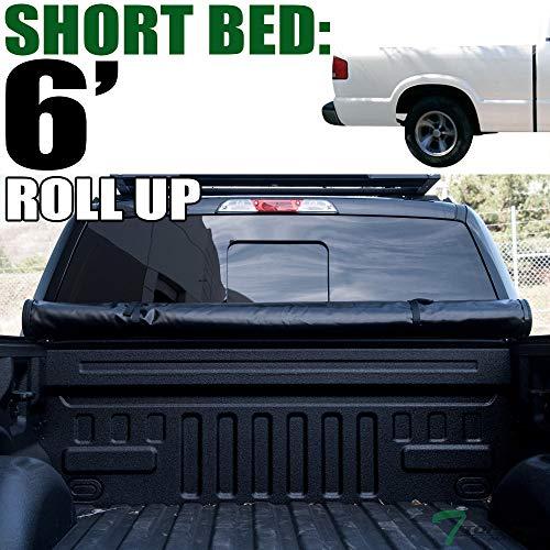 (Topline Autopart Lock Roll Up Soft Vinyl Truck Bed Tonneau Cover For 94-03 Chevy S10 ; GMC S15 / Sonoma ; 96-00 Isuzu Hombre 6 Feet (72