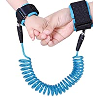 SCWYF Baby Child Anti Lost Wrist Link Safety Velcro Wrist Link 98in (blue)