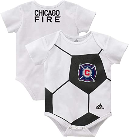 pesadilla cuchara No haga  Amazon.com : Outerstuff Chicago Fire MLS Adidas Newborn White Ball Baby  Creeper : Sports & Outdoors