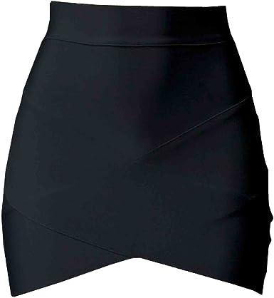 SUNNOW Faldas de Mujer Sexy Correas Cruzadas Cortas Faldas ...