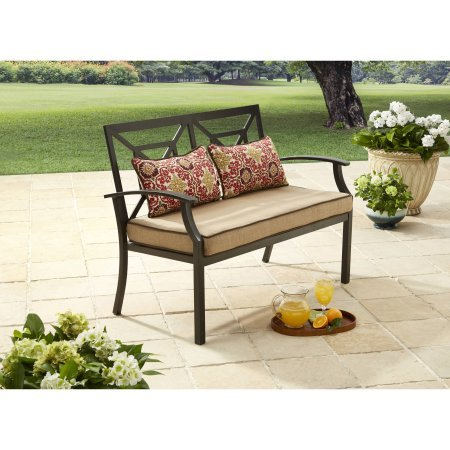 Better Homes and Gardens Carter Hills Outdoor Cushioned Loveseat, Seats 2, Tan (Outdoor Loveseats)
