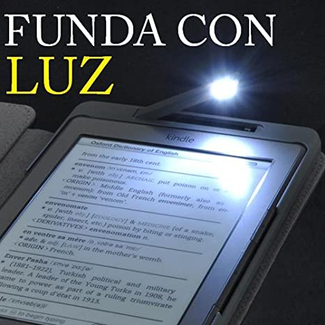 FUNDA A MEDIDA CON LUZ LED INCORPORADA PARA EL KINDLE 4 -NO TOUCH ...