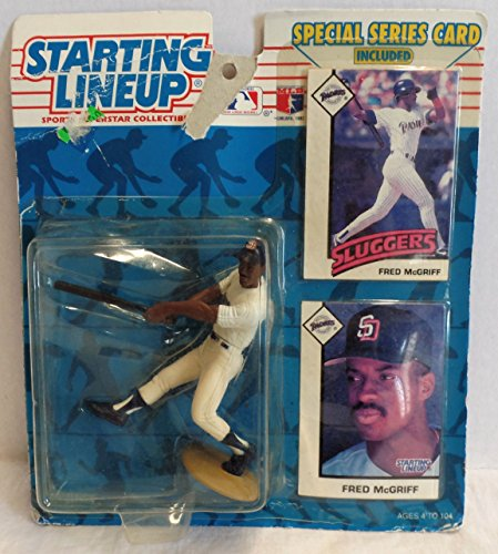 1993 Starting Lineup Sports Superstar Collectible Fred McGriff Figure and (2) Cards - Special Series Card