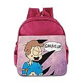 KIDDOS Infant Toddler Kids American Comic Strip Backpack Bag, Pink