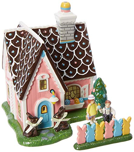 (Department56 Original Snow Village Easter Sweets House Lit Building and Accessories, 7.08