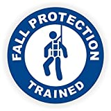 Fall Protection Trained Hard Hat Sticker / Helmet Decal Label Lunch Tool Box