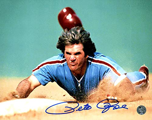 Signed Pete Rose Picture - 8x10 PR Holo Stock #159231 - Autographed MLB Photos