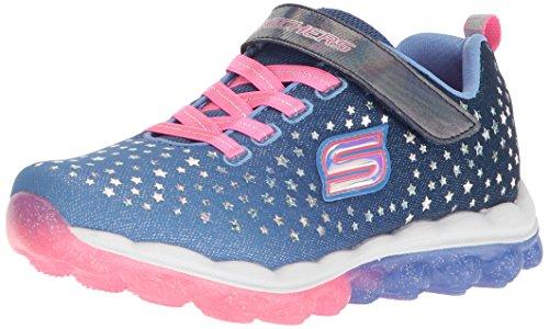 Skechers Kids Girls' Skech-Air-Star Jumper Sneaker,Blue/Neon Pink,11.5 Medium US Little Kid