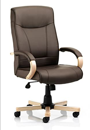 finsbury brown leather executive luxury office chair amazon co uk