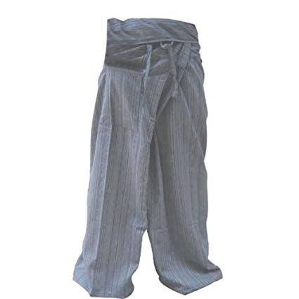 10fe5b4681d Image Unavailable. Image not available for. Color  1 TONE Thai Fisherman  Pants Yoga Trousers ...