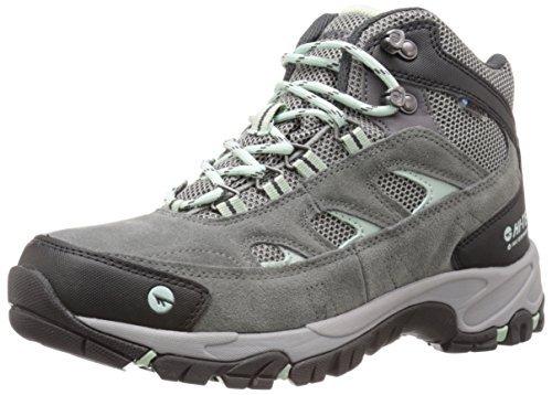 (Hi-Tec Women's Wn Logan Mid Waterproof Hiking Boot, Charcoal/Cool Grey/Lichen, 9 M US)