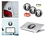 PACK of 3 Star Wars Jedi order Sticker Decal for Macbook, Laptop ,Car Window, Laptop, Motorcycle, Walls, Mirror and More. MTS017