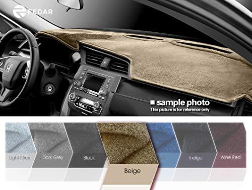 Fedar Compatible 1987-1991 Buick Lasabre Sedan Electra Sedan 1987-1990 Buick Park Avenue Dashboard Cover Mat Pad-Beige