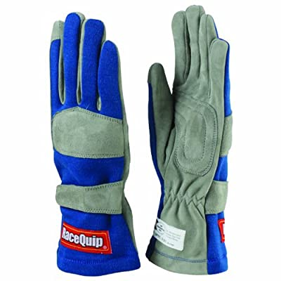 RaceQuip 351022 351 Series Small Blue SFI 3.3/1 One Layer Racing Gloves: Automotive