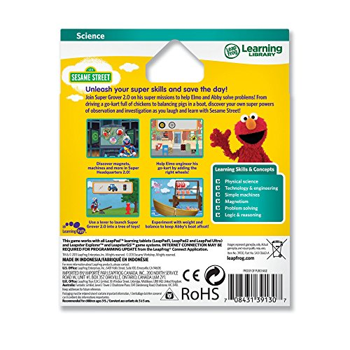 51S7Dn%2BSqoL - LeapFrog Learning Game: Sesame Street Solve it with Elmo (for LeapPad Tablets and LeapsterGS)