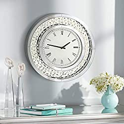 Newhill Designs Cielo Mirrored 20 Round Wall Clock