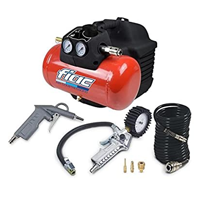 Fiac Compresor De Aire 6 L 1,5 CV 8 bar incluye pistola de aire