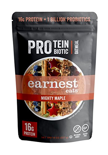 Pro Protein & Probiotic Oatmeal, Mighty Maple, 8 Ounce