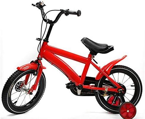 Bicicleta infantil unisex de 14 pulgadas con freno de contrapedal, ruedas de apoyo para niños, color rojo: Amazon.es: Bricolaje y herramientas