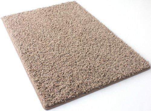 7'X11' Pecan Brown Frieze Shag Indoor Area Rug Carpet. Soft and Plush 32 oz 3/4