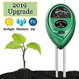Swiser Soil PH Meter,3-in-1 Soil Test Kit for Moisture, Light & PH Test, Indoor/Outdoor Plant Care Soil Tester, for Home and Garden, Farm, Plants, Herbs & Gardening Tools