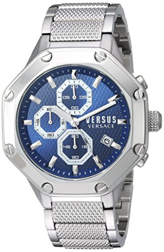 Versus by Versace Men's 'KOWLOON' Quartz Stainless Steel Casual Watch, Color:Silver-Toned (Model: - Versus Versace Men