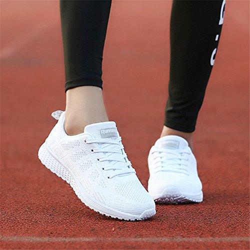 Wxdz Womens Walking Sneakers Sportive Scarpe Da Tennis Traspiranti Scarpe Da Corsa Atletiche Bianche