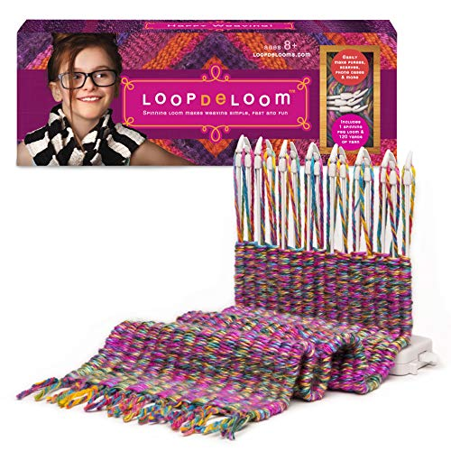 Loopdeloom - Weaving Loom - Learn to Weave - Award-Winning Craft Kit (Knit Kids Mitten)