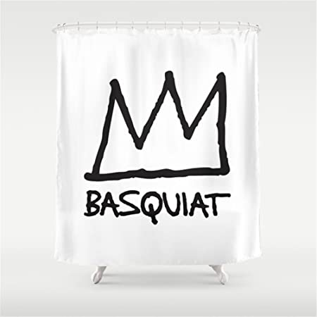 Hbesa Basquiat Shower Curtain 54x72 Inch Amazoncouk Kitchen Home