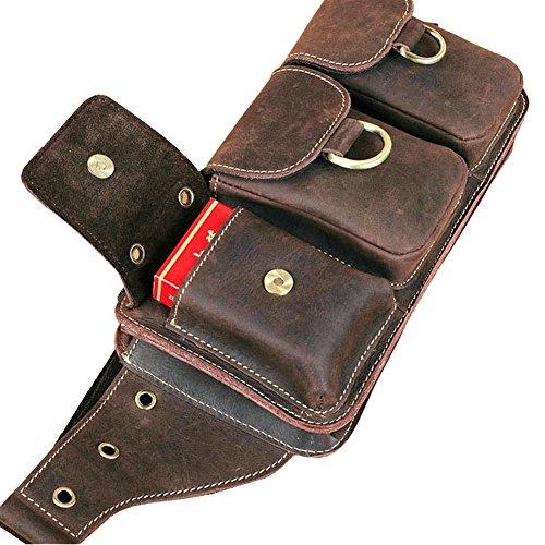 Genda 2Archer Echtes Leder Bauchtasche und Weise Schlinge-tasche