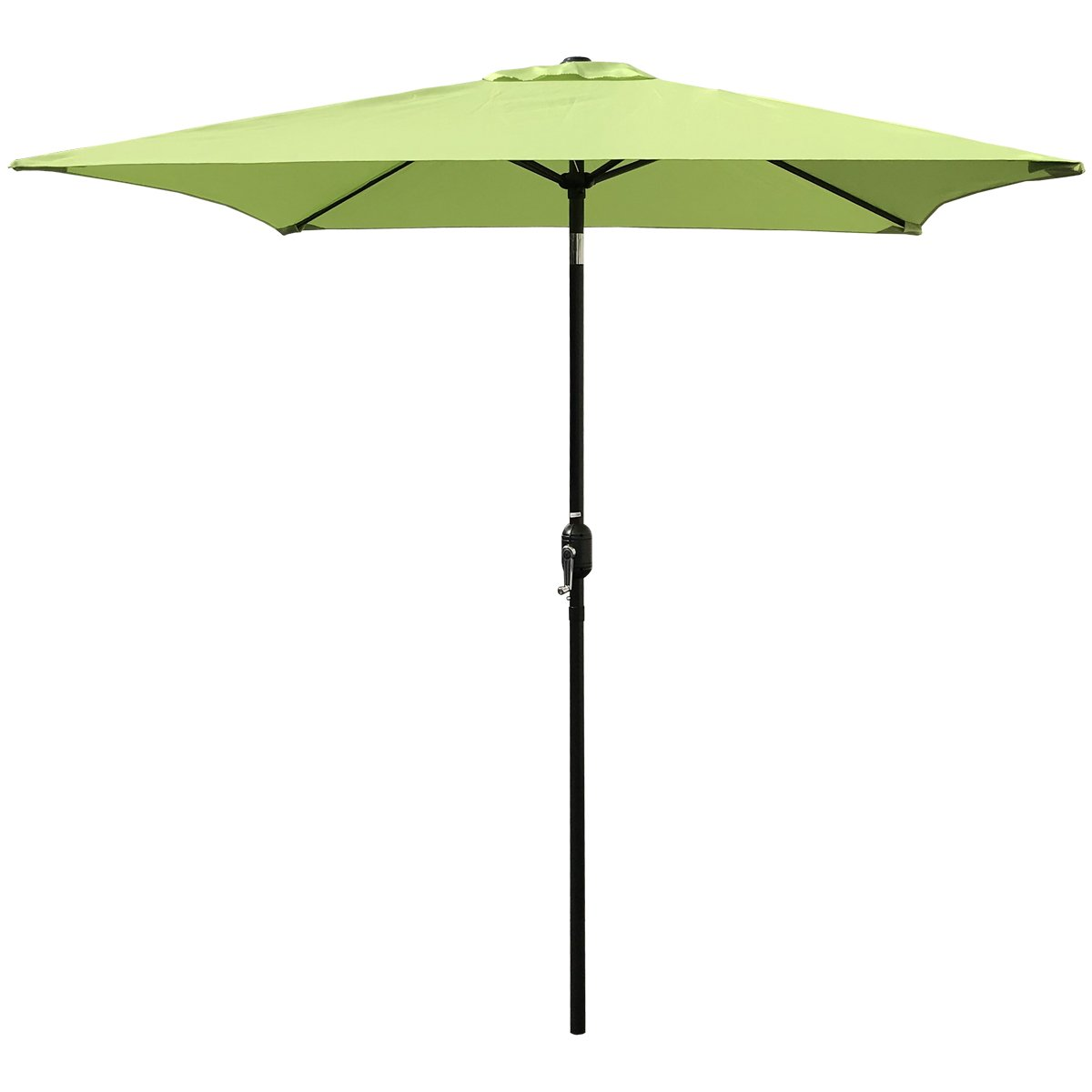ABBLE Outdoor Patio Umbrella 6.5 Ft Square with Tilt and Crank, Weather Resistant, UV Protective Umbrella, Durable, 6 Sturdy Steel Ribs, Market Outdoor Table Umbrella, Lime Green
