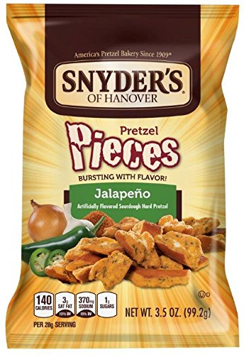 Snyder's of Hanover Jalapeno Pretzel Pieces, 3.5 Ounce (Pack of 48) by Snyder's of Hanover