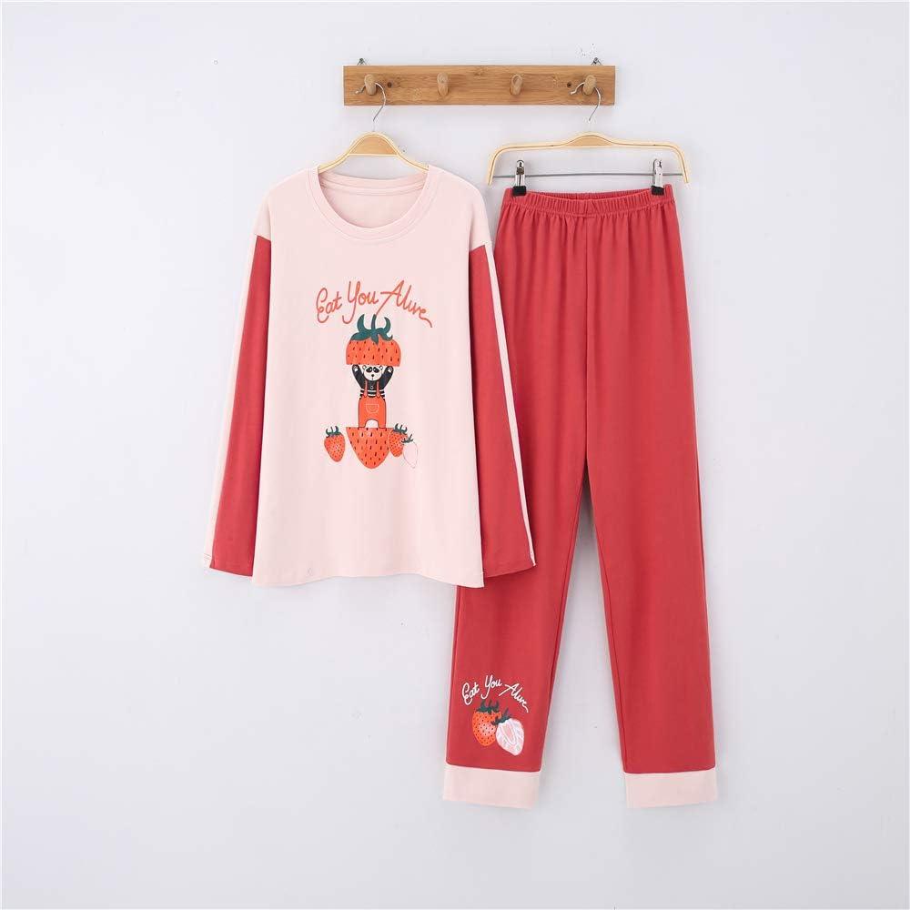 Pijamas Conjunto Camisetas Mangas Largas y Pantalones Largos ...