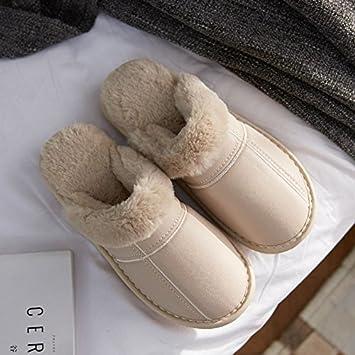 LaxBa Frauen Männer Indoor Anti-Slip Hausschuhe Schuhe Braun 36 e4jkfhs