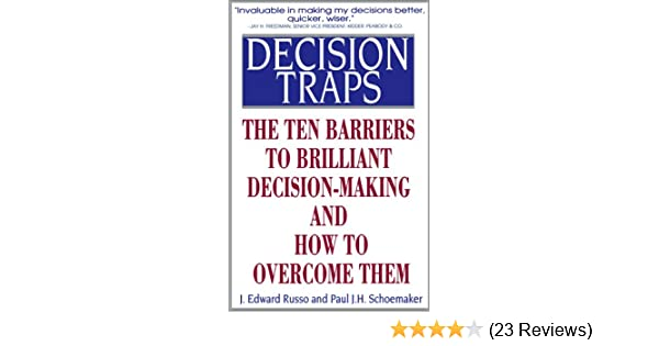 decision making traps examples
