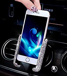 Bling Rhinestone Crystal Adjustable Phone Holder