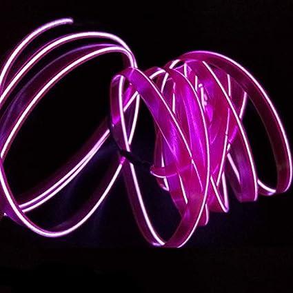BEESCLOVER Lampe dambiance pour Porte de Voiture 1 m Lumi/ère ambiante Cold Line DIY D/écoration Tableau de Bord Console de Voiture