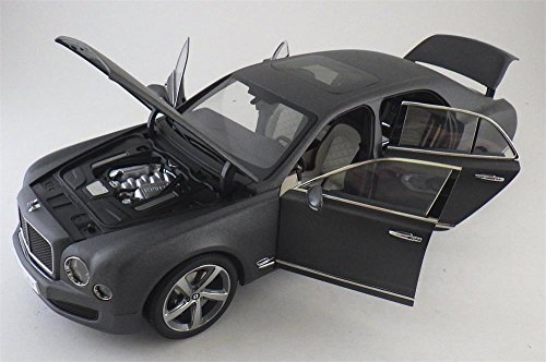 Bentley Mulsanne Speed Matte Dark Gray 1/18 Diecast Model Car by Kyosho 08910 DGS