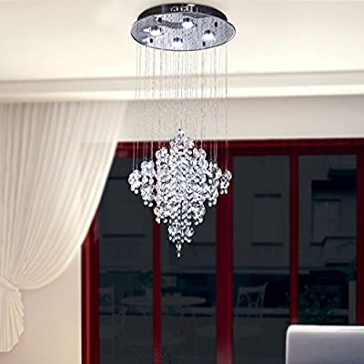 OOFAY LIGHT LED 43W Contemporary fashion K9 Crystal Modern Chandelier Rain Drop Lighting Crystal Ball Fixture Pendant