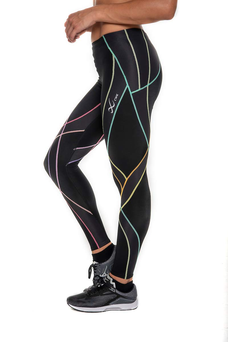 CW-X Women's Endurance Generator Full Length Compression Tights, Black/Rainbow, Small by CW-X (Image #6)