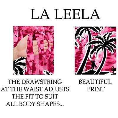 LA LEELA Women's Mini Kimono Bikini Swimwear Cover Ups Dress Tops Drawstring A at  Women's Clothing store