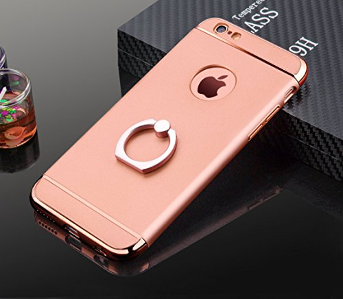 With Ring Holder Stan Iphone Case Essential Phone Case Shell Phone Case Phone Case For Girls Women Cordless Phone Case Mobile Phone Shell (Rose-gold,iphone6/6s) (Iphone6 Mobile Phone Shell)