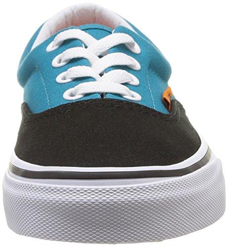 Vans U Era, Damen Sneaker Mehrfarbig - Mehrfarbig (Schwarz / Pagoda Blue)