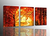 SkywardArt-003 Canvas Prints, 3 panel Wall Art oil Paintings Printed Pictures Stretched for Home Decoration Wall Decor Landscape Oil Painting on Canvas
