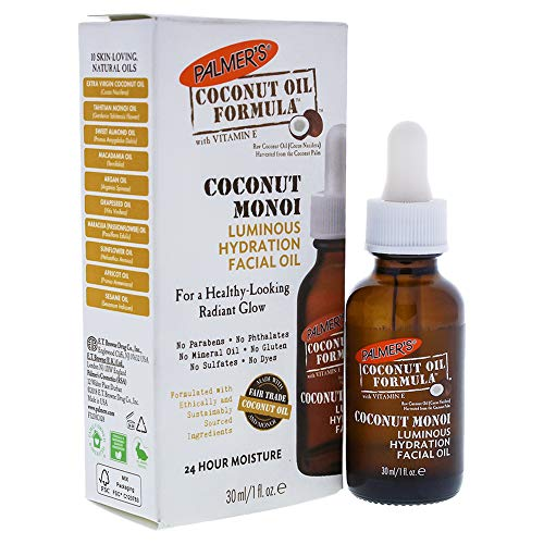 Palmer's Coconut Oil Formula, Coconut Monoi Luminous Hydration Facial Oil | For a Healthy-Looking Radiant Glow | 24 Hour Moisture | 1 fl. oz.