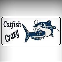 Catfish Crazy Photo License Platefor Home / Man Cave Decor by PrettyMerchant