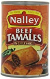 Nalley Beef Tamales in Chili Sauce, 15-Ounce (Pack of 6)